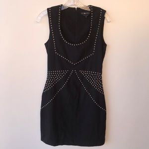 Rock Republic Black Dress Gunmetal Accents size 4